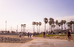 Public park and beach Venice Beach. Tourist and leisure recreation center in Los Angeles, California Stock Photo