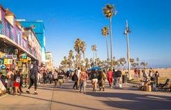 Fun on Venice Beach, Los Angeles, California, USA. Tourism in California. Los Angeles, California, USA - June 21, 2017: Road and shops at Venice Beach, Los Stock Photo