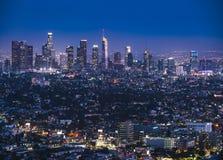 Los Angeles, California, usa, - 5-17-17: los Angeles linia horyzontu przy nigh Obrazy Stock