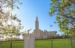 Los Angeles, Californian mormon temple in spring. USA. Spring 2015. Los Angeles, Californian mormon temple in spring. USA. Spring 2015 Royalty Free Stock Photos