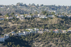 Los Angeles Canyon Hillside Homes Royalty Free Stock Image