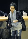LOS ANGELES -celebrity Kim Kardashian LAX airport Stock Photos