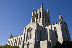 Los Angeles Christian Church. Christian church, or cathedral, with spires reaching into the sky. This church is located in Los Angeles, California, USA Stock Images