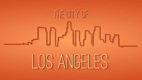 Los Angeles. The city of Los Angeles. Black and white silhouette and lettering Royalty Free Stock Photo