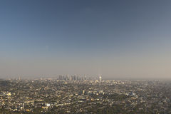 Los Angeles City in California. Aerial View Stock Photo