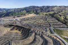 Los Angeles City Growth in Porter Ranch. The City of Los Angeles growing with vast new developments in the Porter Ranch Community royalty free stock photo