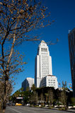 Los Angeles City Hall. During winter Royalty Free Stock Images