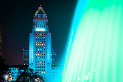 Los Angeles City Hall as seen from the Grand Park Royalty Free Stock Photography