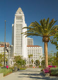 Los Angeles City Hall. As seen from park across the street. Photo taken on: April 17, 2013 Royalty Free Stock Photography