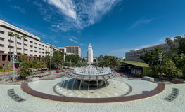 Los Angeles City Hall from Grand Park Stock Images