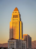 Los Angeles City Hall. At sunset. Photo taken on: December 19th 2012 Stock Image