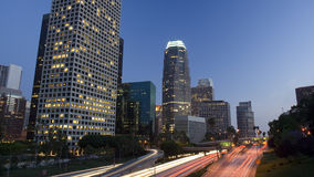Los Angeles city just after sunset Royalty Free Stock Images