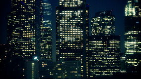 Los angeles city lights zoom out stock video footage