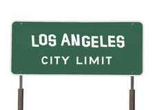 Los Angeles City Limit Sign with Handmade Font Royalty Free Stock Photography