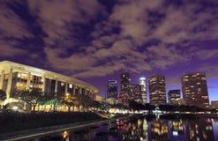 Los Angeles city at night Stock Photo
