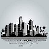 Los Angeles city silhouette. Royalty Free Stock Images