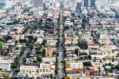 Los Angeles City Skyline at Dusk Stock Photos