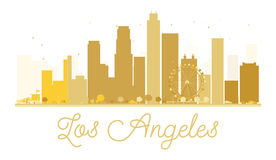 Los Angeles City skyline golden silhouette. Vector illustration. Simple flat concept for tourism presentation, banner, placard or web site. Los Angeles Royalty Free Stock Image