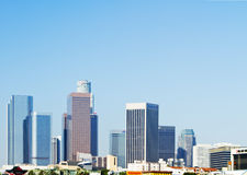 Los Angeles city skyline in morning Stock Photos