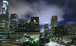 Los Angeles city skyline at night Royalty Free Stock Photography