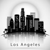 Los Angeles City Skyline. Typographic Design Royalty Free Stock Photos
