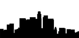 los angeles city skyline Stock Image