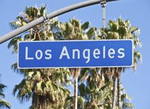 Los Angeles City Street Sign Royalty Free Stock Images