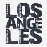 Los Angeles City Typography design Stock Image