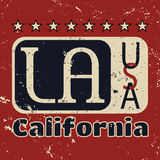 Los Angeles city Typography Graphic Grunge Stock Photography