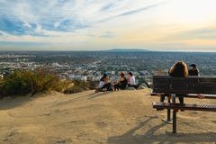 Los Angeles city, View from Runyon Canyon Park royalty free stock image
