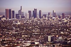 Los Angeles Cityscape Stock Photography