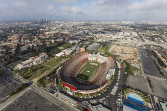 Los Angeles Coliseum Aerial Stock Photos