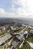 Los Angeles Coliseum and Exposition Park. Los Angeles, California, USA - April 12, 2017:  Aerial view of the historic Coliseum Stadium and Exposition Park Stock Images