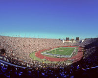 Los Angeles Coliseum, Raiders Spel royalty-vrije stock afbeeldingen