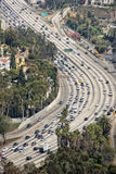 Los angeles congested highway Royalty Free Stock Photos