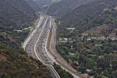 Los angeles congested highway Stock Photo