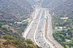 Los angeles congested highway Royalty Free Stock Images
