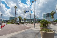 Los Angeles Convention Center - CALIFORNIA, USA - MARCH 18, 2019. Los Angeles Convention Center - CALIFORNIA, UNITED STATES - MARCH 18, 2019 stock photography