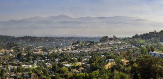 Los Angeles country side view from top. Aerial view at morning Stock Image