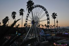 Los Angeles County Fair Ferris Wheels at simset Royalty Free Stock Images