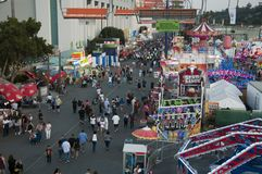 Los Angeles County Fair Midway Stock Photography