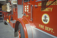Los Angeles County Fire Engine, California Stock Photo