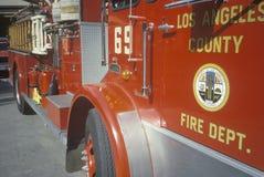 Los Angeles County Fire Engine, California Stock Photo