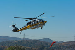 Los Angeles County Fire helicopter Royalty Free Stock Image