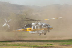 Los Angeles County Fire helicopter Stock Image