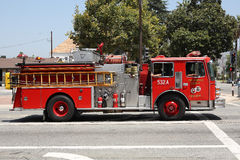 Los Angeles County Fire Truck. In San Dimas, California Stock Image