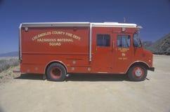 Los Angeles County Hazardous materials vehicle Stock Photos