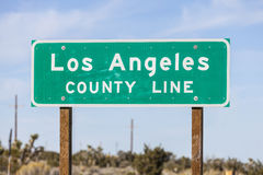Los Angeles County Line Sign Royalty Free Stock Photo