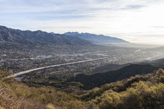 Los Angeles County Morning Valley View Stock Photography