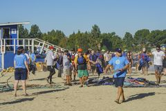 Dragon boat festival at Santa Fe Dam Recreation Area Royalty Free Stock Photography